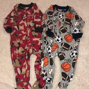 Boys one piece pajamas set of two